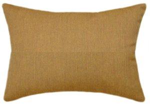 Sunbrella Canvas Teak Indoor Outdoor Solid Pillow 12x18 Rectangle