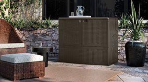 Suncast Vertical Deck Box Backyard Oasis