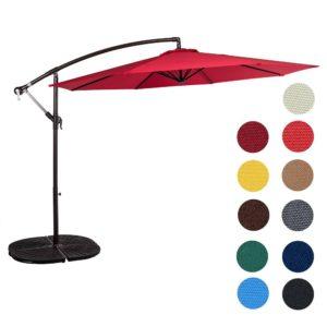 Sundale Outdoor 10' Aluminum Offset Umbrella