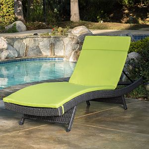Lakeport Outdoor Adjustable Chaise Lounge Chair with Cushion
