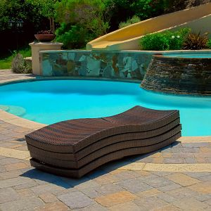 Lakeport Outdoor Adjustable Chaise Lounge Stacked