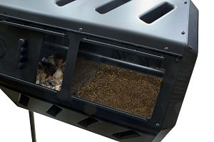 Dual Chamber Compost Tumbler by YIMBY