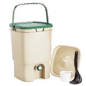 Chef's Star 5 Gallon Air Tight Indoor Bokashi Bin Kitchen Compost Kit