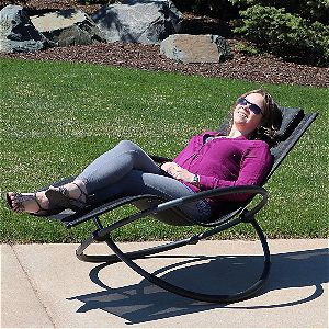 The Sunnydaze Orbital Chaise Lounge Chair Is A Cool, Stylish, Contemporary  Zero Gravity Chaise Lounge Chair. This Chair Is Sturdy And Rust Proof, ...