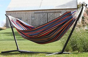 Vivere Double Hammock Techno with Charcoal Frame