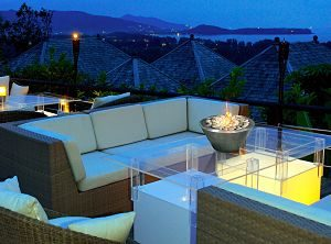 Anywhere Fireplace - Oasis Indoor Outdoor Gel Fuel Fireplace