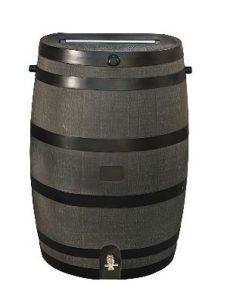 RTS Home Accents 50 Gallon Rain Barrel, Woodgrain