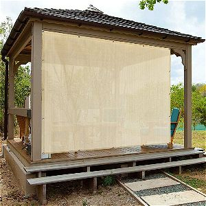 Alion Home Sun Shade Privacy Panel with Grommets on 4 Sides for Patio, Awning, Window Cover, Pergola or Gazebo - Banha Beige