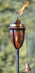 H Potter Copper Garden Torch