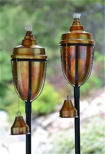 H Potter Copper Rustic Metal Tiki Torch