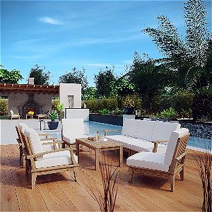 Stupendous Teak Patio Sofa Sets Reviews And Product Information Download Free Architecture Designs Sospemadebymaigaardcom