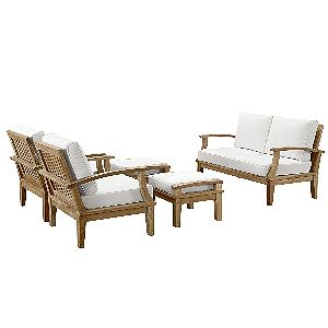 Modway Marina 5 Piece, Best Of The Teak Patio Sofa Sets