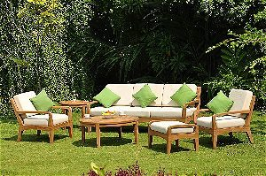 Noida 6 Piece Teak Sofa Lounge Set