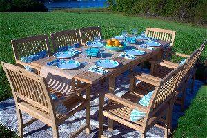 Teak Wood Dining Set by Pebble Lane
