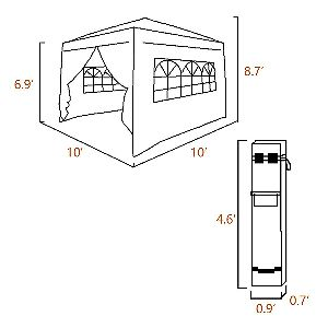 Quictent Silvox 10 x 10 Dimensions