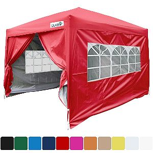 Quictent Silvox 10x10 Red Pop Up Canopy