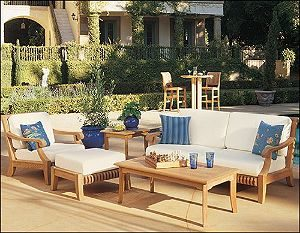 A Furniture Set made of Teak, a Durable Outdoor Furniture Material, by Wholesale Teak