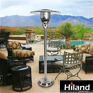 AZ Patio Heaters Hiland Natural Gas Patio Heater In Context