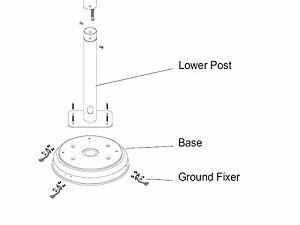 AZ Patio Heaters Natural Gas Base Diagram