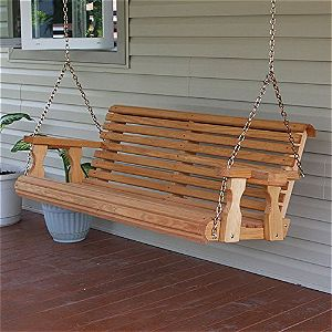 Cafe Heavy Duty 800 lb Roll Back 5 Ft Amish Porch Swings
