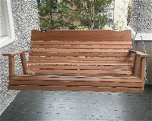 Kilmer Creek 4' Natural Cedar Amish Porch Swing