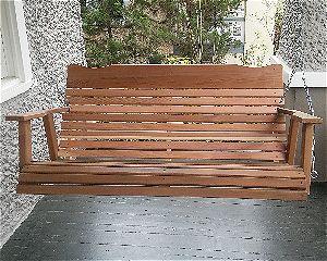 Kilmer Creek 4' Natural Cedar Amish Porch Swing