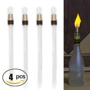 Oexeo Tiki Torch Wick Kit, 4 Pieces