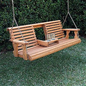 Porchgate Amish Heavy Duty 800b 5' Porch Swing Folded Down