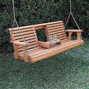 Porchgate Amish Heavy Duty 800b 5' Porch Swing Folded Down