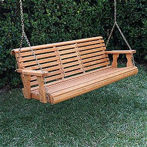 Porchgate Amish Heavy Duty 800b 5' Porch Swing Folded Up