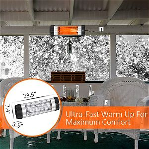 Vivreal Home Wall Mounted Patio Heater