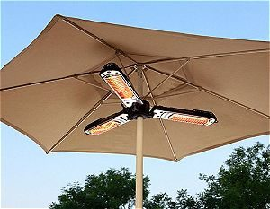 AZ Patio Heater Electric Umbrella Heater, the Best Umbrella Patio Heater Available