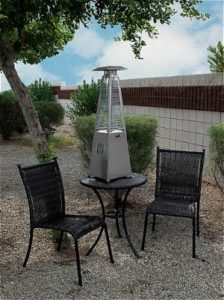 AZ Patio Heaters Portable Table Top Stainless Steel Glass Tube Patio Heater
