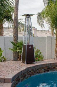 AZ Patio Heaters Pyramid Heater by the PoolAZ Patio Heaters Pyramid Heater by the Pool