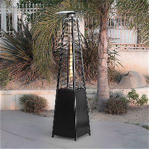 Belleze Hammered Black Propane Pyramid Heater