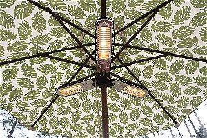 Fire Sense Infrared Umbrella Heater Open