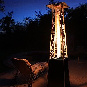 Garden Radiance Dancing Flames Pyramid Heater in Action