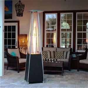 Golden Flame Pyramid Heater Matte Black