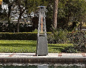 Golden Flame Pyramid Heater Propane Hammered Silver