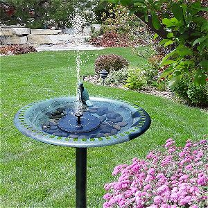Hilucky Solar Birdbath FountainHilucky Solar Birdbath Fountain