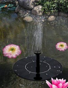 OUSI Solar Fountain in PondOUSI Solar Fountain in Pond
