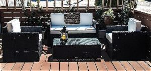 Outsunny 4 Piece Outdoor Living Set