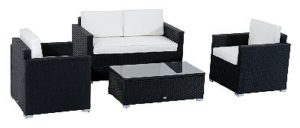 Outsunny Modern 4 Piece Conversation Set