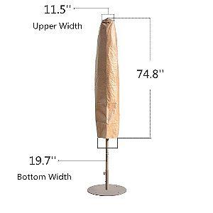 Abba Patio Umbrella Cover Dimensions