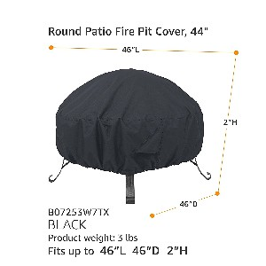 "AmazonBasics 46"" Round Fire Pit Table Cover"
