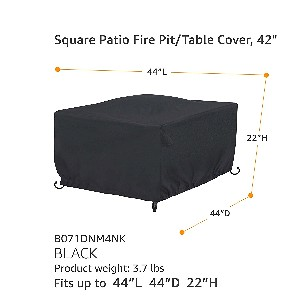 "AmazonBasics 44"" Square Fire Table Cover"