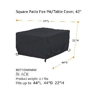 "AmazonBasics 44"" Square Fire Table Cover"