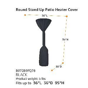 AmazonBasics Pole Heater Cover Dimensions