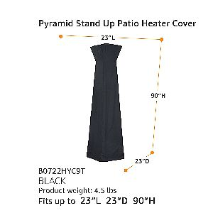 AmazonBasics Pyramid Heater Cover Dimensions