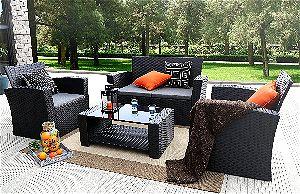 Baner Garden (N87) 4 Pieces Outdoor Furniture Complete Patio Garden Set